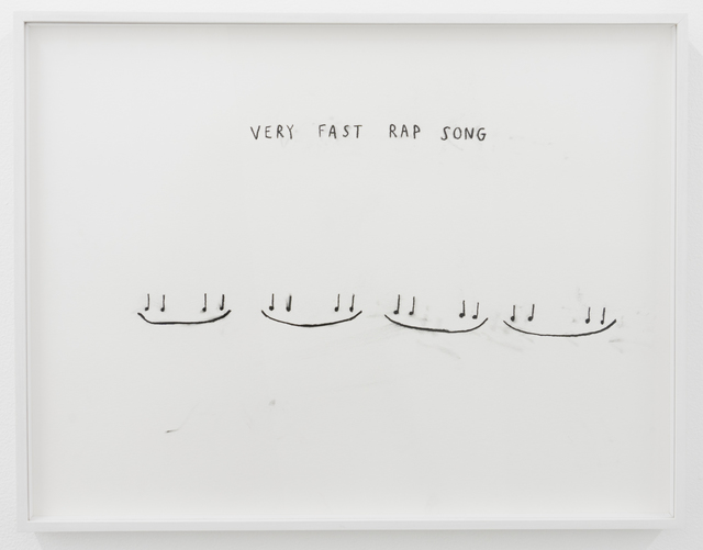 , 'Very Fast Rap Song,' 2016, François Ghebaly