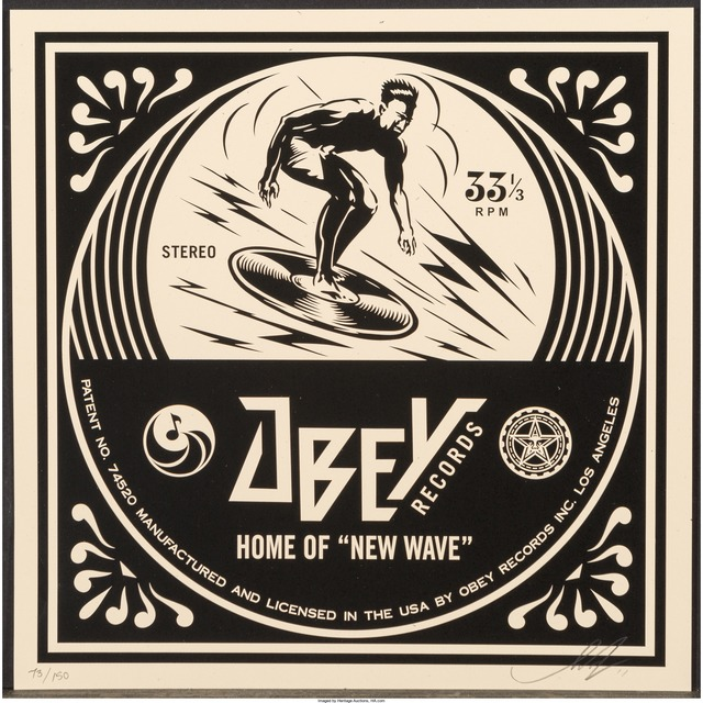 Shepard Fairey, 'New Wave Surfer Album Cover, from the Dance Floor Riot', 2011, Heritage Auctions