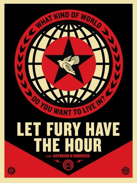 Shepard Fairey (OBEY), 'Let the Fury Havc the Hour ', 2013, AYNAC Gallery
