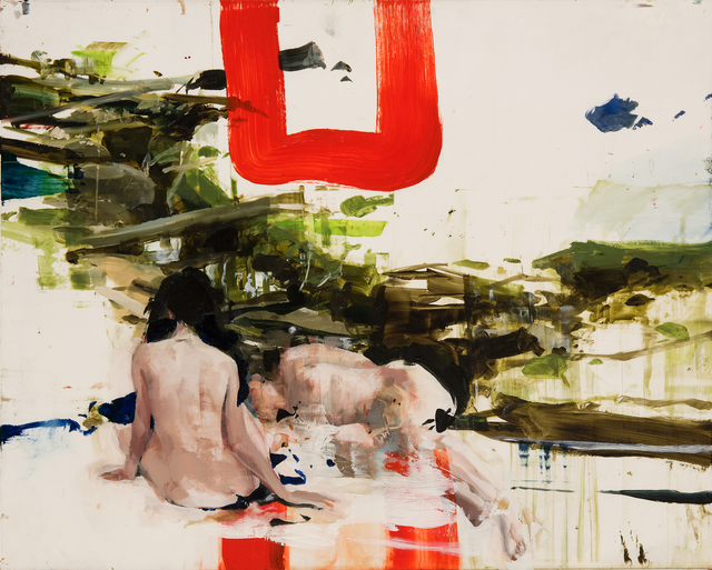 , 'Ted's Brook with Imaginary Ladies,' 2015, Hollis Taggart Galleries