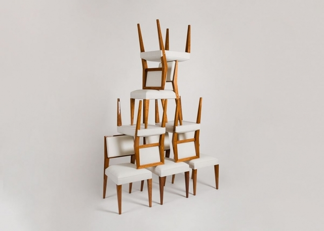 , 'Set of Eight Dining Chairs,' ca. 1950, Maison Gerard