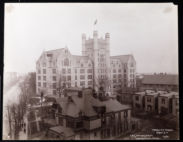 Jacob A. Riis, 'Morris High School in the Bronx from the Front, South west', ca. 1903, Museum of the City of New York