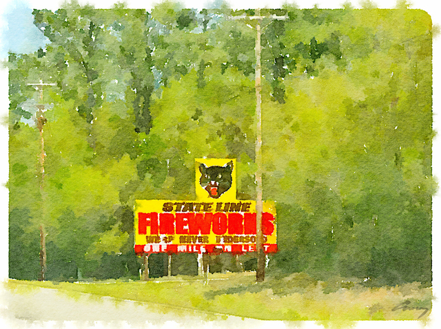 , 'Fireworks, SC,' 2014, TAG Gallery