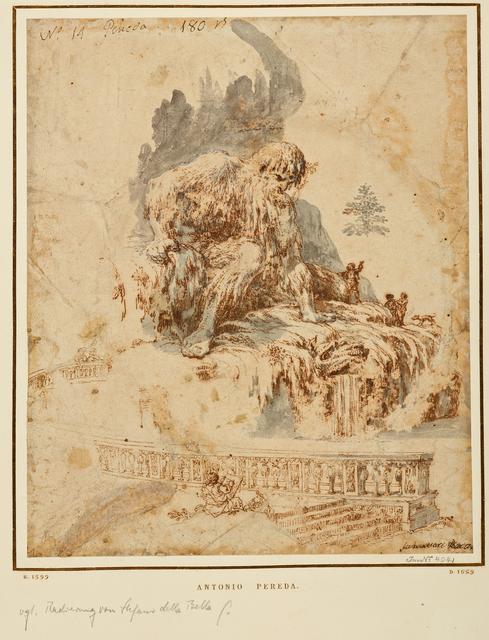 , 'Der Künstler vor Gianbolognas Appennino,' 1665-1678?, Gemäldegalerie Alte Meister