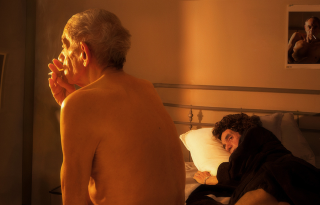 , 'Looking for the Masters in Ricardo's Golden Shoes #73 (Tribute to Nan GOLDIN, Nan and Brian in bed, NYC, 1983),' 2016, Galerie Thierry Bigaignon