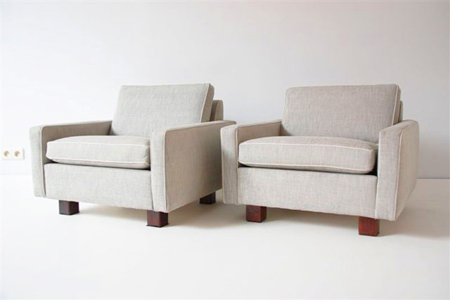 , 'Pair of square armchairs,' ca. 1950, Gallery Anne Autegarden