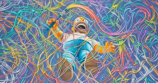 Ron English, 'High Speed Homer', 2010, Painting, Acrylic on canvas, Doyle