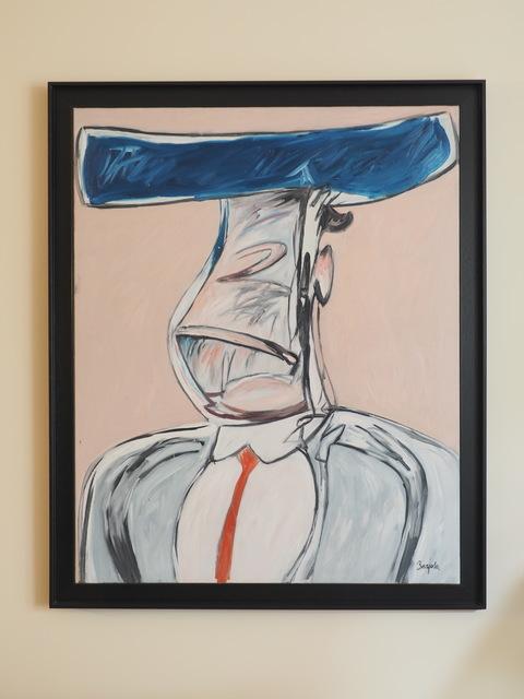 Juan Barjola, 'Retrato apócrifo de torero', 1986, Painting, Oil on canvas, Aurora Vigil-Escalera Art Gallery