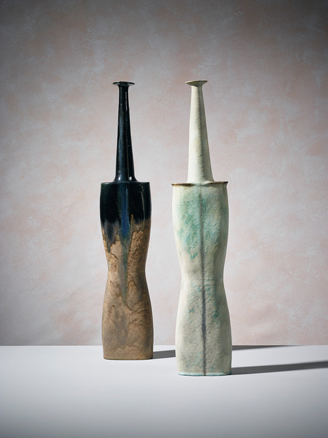 , 'Paire of Green and Black Vases ,' 1990-85, 18 Davies Street Gallery