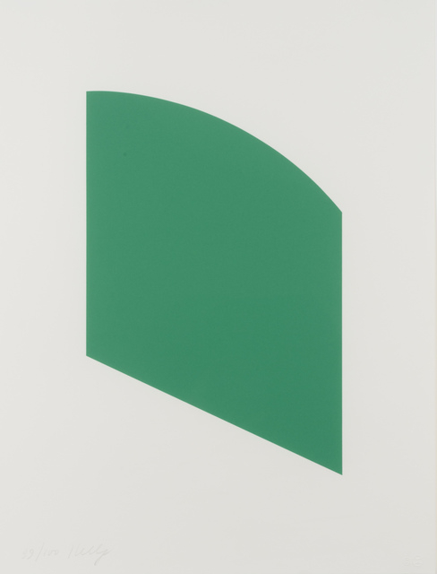 Ellsworth Kelly, 'Green Curve', 2002, Leslie Sacks Gallery
