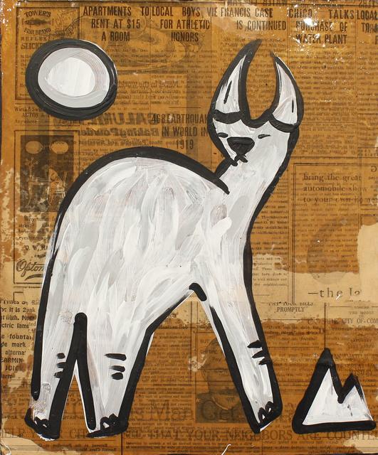 , 'Bull on Newsprint,' 2018, Art Attack SF