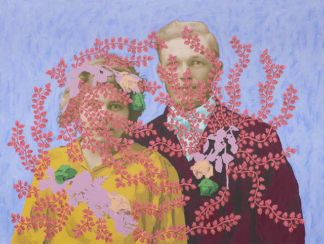 , 'Untitled (Wedding Portrait with Flowers),' 2018, k contemporary