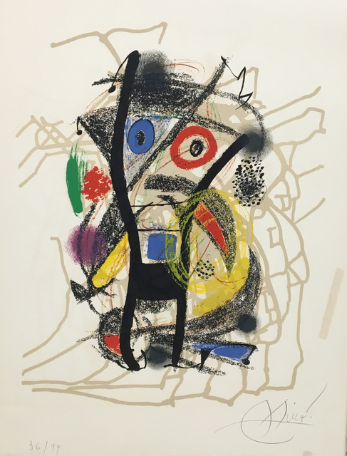 Joan Miró, 'Hommage á Hélion (After French Painter 1904 -87)', 1976, Baterbys