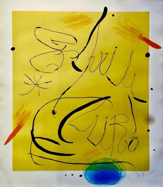 Joan Miró, 'Espriu (D.877) (C.197).', 1975, Off The Wall Gallery
