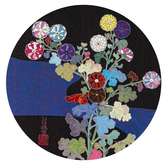 Takashi Murakami, 'Korin: Azure River', 2015, Print, Offset printing in 4 colors and foil and thick fill varnish, Lougher Contemporary