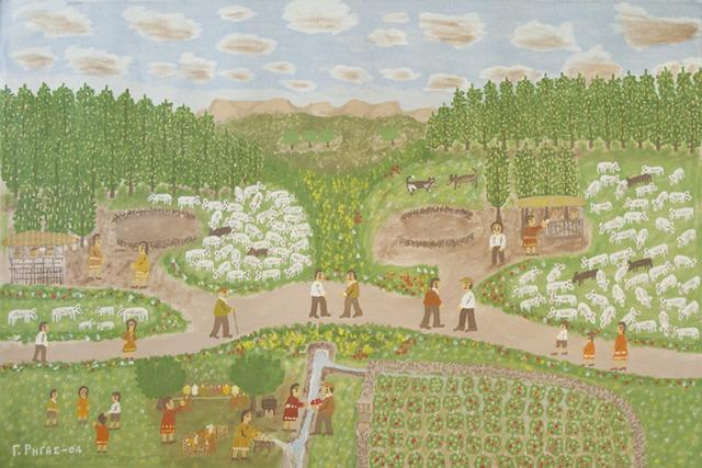 Giorgos Rigas, 'Shepherd', 2004, Painting, Oil on linen, C. Grimaldis Gallery