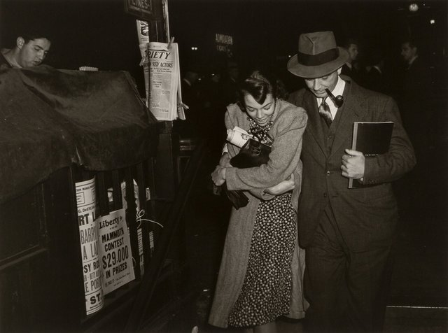 Lou Stoumen, 'Young Couple, Times Square, New York and Times Square, New York (Salvation Army)', 1940-1977, Heritage Auctions
