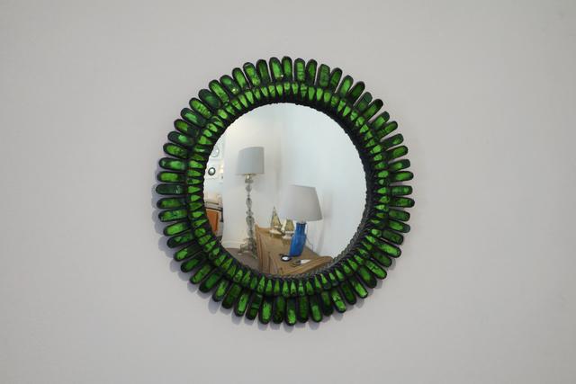 """, 'Green """"Gerbera"""" mirror,' ca. 1955, Galerie Chastel-Maréchal"""
