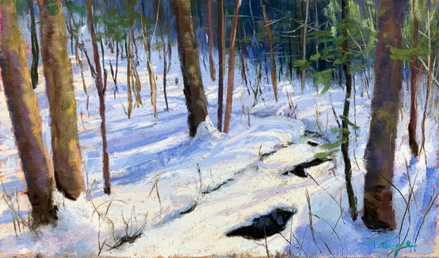Takeyce Walter, 'Day 2: Snow Covered Stream ', February 2020, Painting, Pastels, Keene Arts