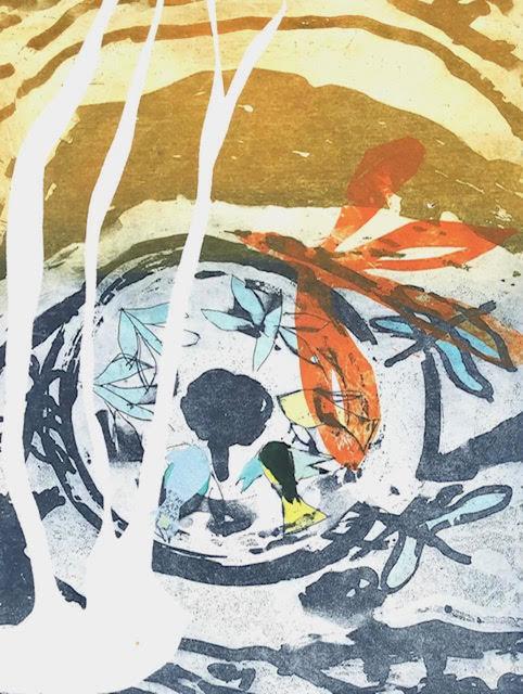 Jan Farrell, 'Orange Dragonfly', 2021, Print, Etching on aluminium, Charbonnel ink, BFK Rives paper, Open Bite Printmakers