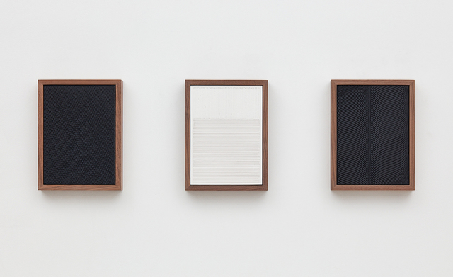 , 'Untitled (Etched Plaster Triptych),' 2015, David Kordansky Gallery