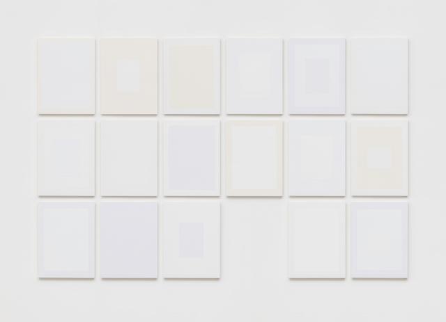 , 'O jogo da inexistência (Séries Brancos) ,' 2017, Galeria Raquel Arnaud
