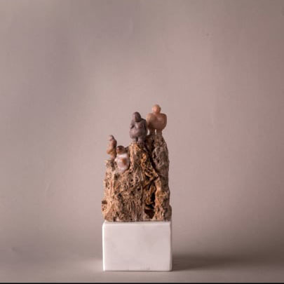 Bader Mahasneh, 'Humans on the hills', 2020, Sculpture, Quartz & Lime, Orient Gallery
