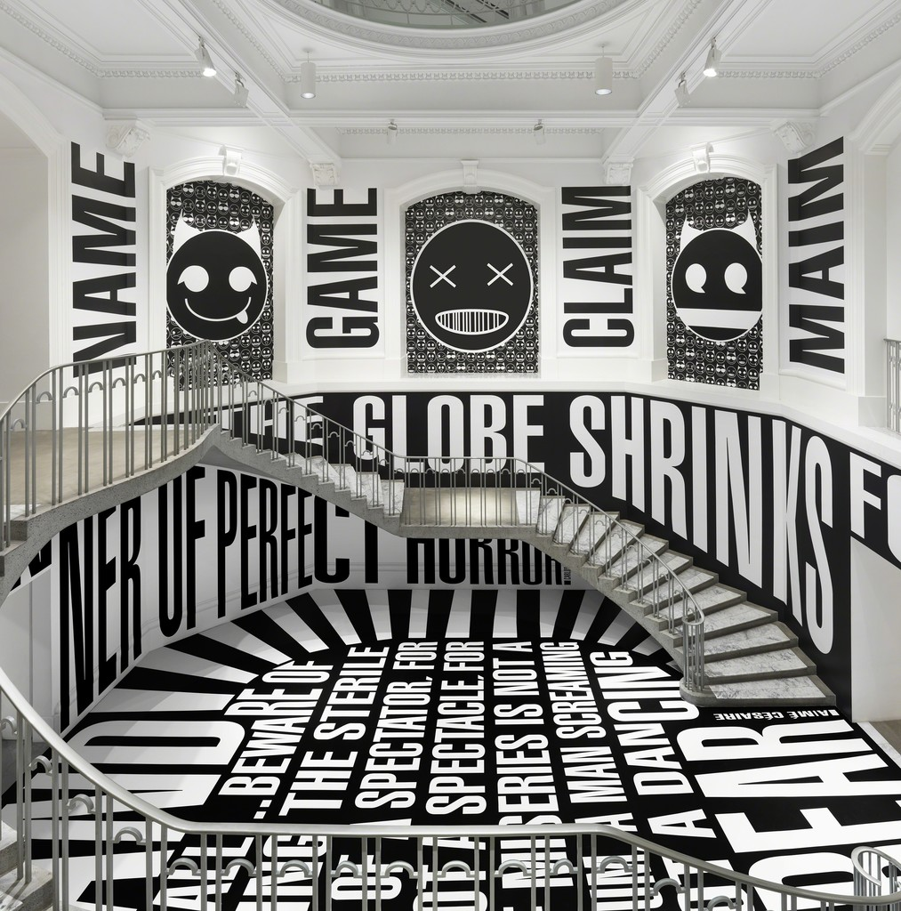 Barbara Kruger, Untitled (SmashUp), 2016, site-specific installation