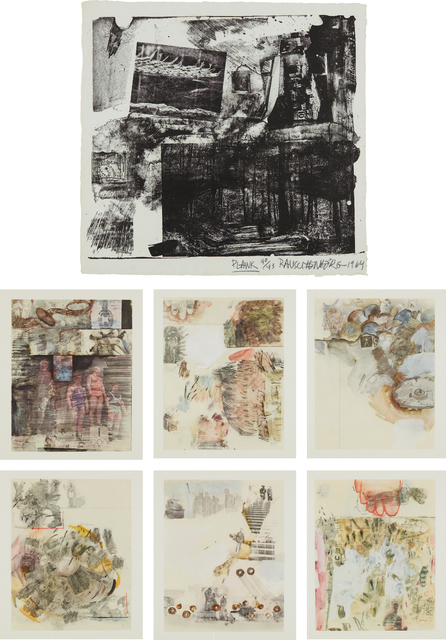 Robert Rauschenberg, 'Dante's Inferno', 1964, Print, The complete set of 35 prints, including Plank lithograph in black and 34 facsimiles in colors, on Angoumois à la main and wove paper respectively, with full margins and the full sheets, all contained in the original portfolio, Phillips