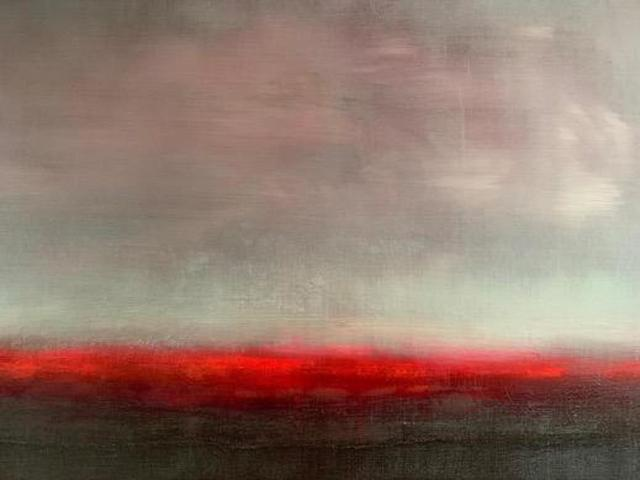 , ''Red Shimmer', from 'Somewhere Between Two Worlds' series ,' 2019, Tanya Baxter Contemporary