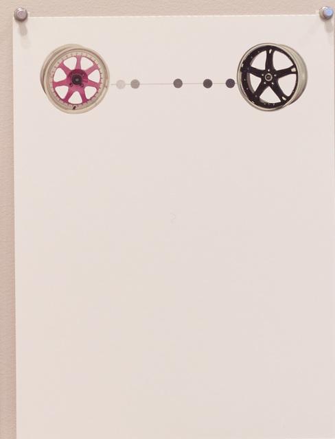 , 'Untitled (Pink and Black Wheels),' 2016, Diane Rosenstein