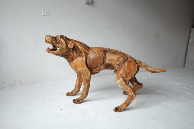 , '11. Life size Rottweiler II. Wooden original, to be cast in bronze,' 2017, Sladmore Contemporary