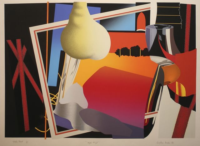 Gwyther Irwin, 'Night Flight', 1986, Print, Screenprint in colours, Roseberys