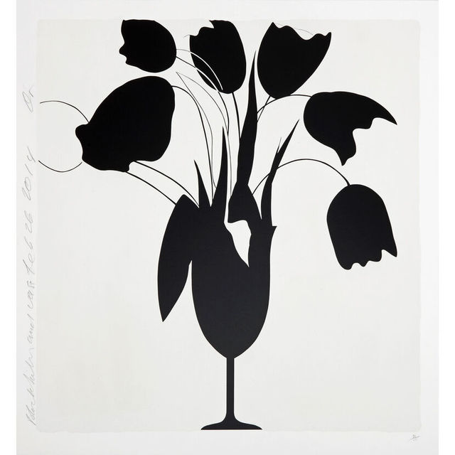 Donald Sultan, 'Black Tulips and Vase', 2014, Artsnap