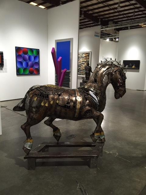 Left to Right: - Jesus Rafael Soto - Victor Vasarely - Jesus Rafael Soto  Sculpture:  - Alirio Palacios