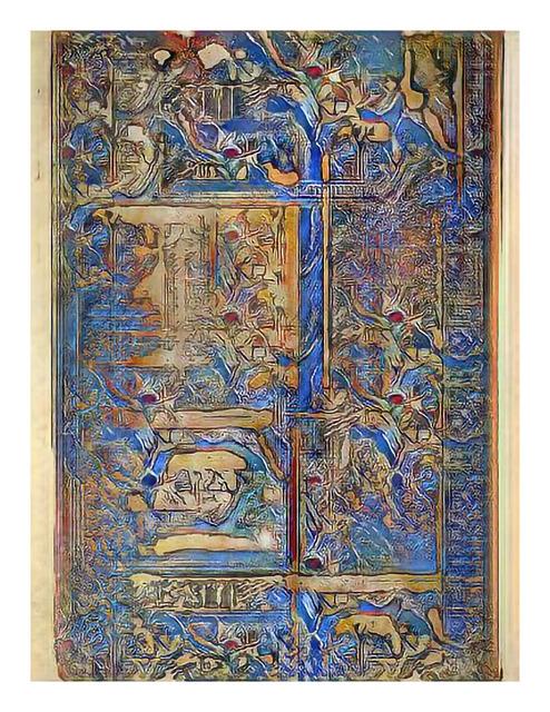 , 'Narrative Frame (Illuminated Manuscripts 7),' 2019, Mark Moore Fine Art
