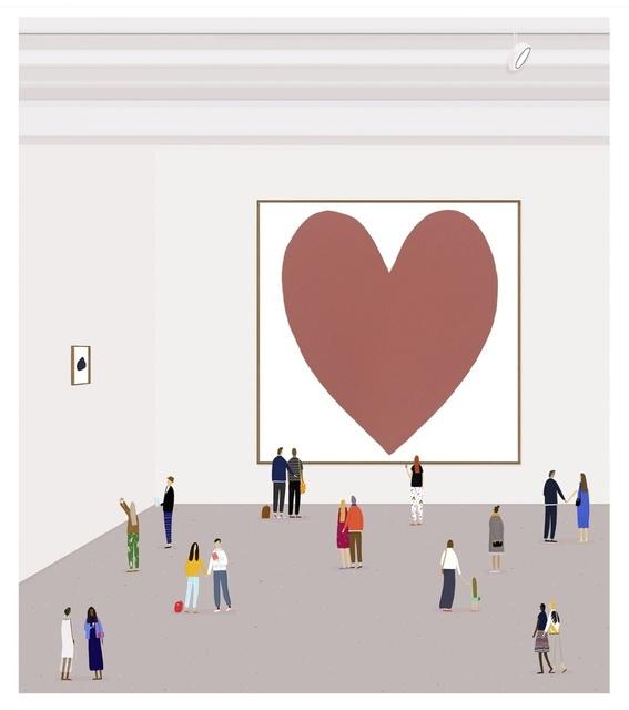 , 'A Pink Heart II ,' 2015, Rebecca Hossack Art Gallery