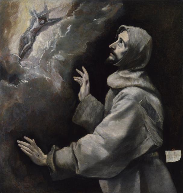 El Greco, 'Saint Francis Receiving the Stigmata,' 1585-1590, Walters Art Museum