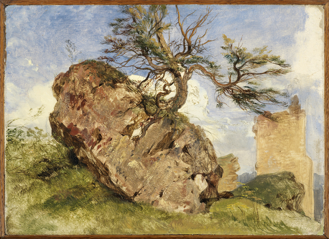 , 'Study of a Rock and Tree,' , DICKINSON