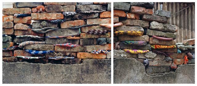 , 'Shikumen's walls series # 1 Shikumen's walls series #2,' 2010-2011, ArtCN