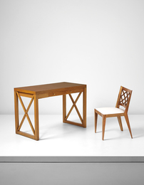 "Jean Royère, '""Croisillon"" desk and chair,' ca. 1950-1955, Phillips: Design"