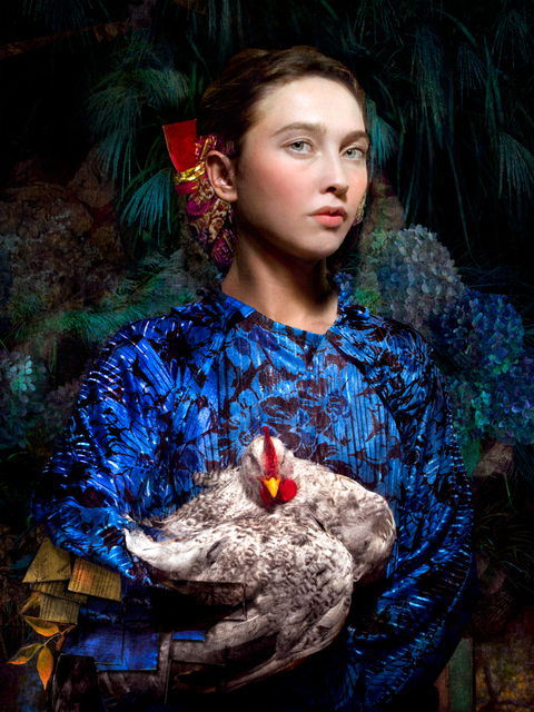 Cooper & Gorfer, 'Vanesa and the Chicken', 2017, Photography, Archival pigment print, Larsen Warner