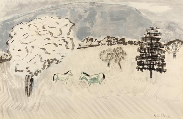 Milton Avery, 'Country Horses', 1962, Hindman