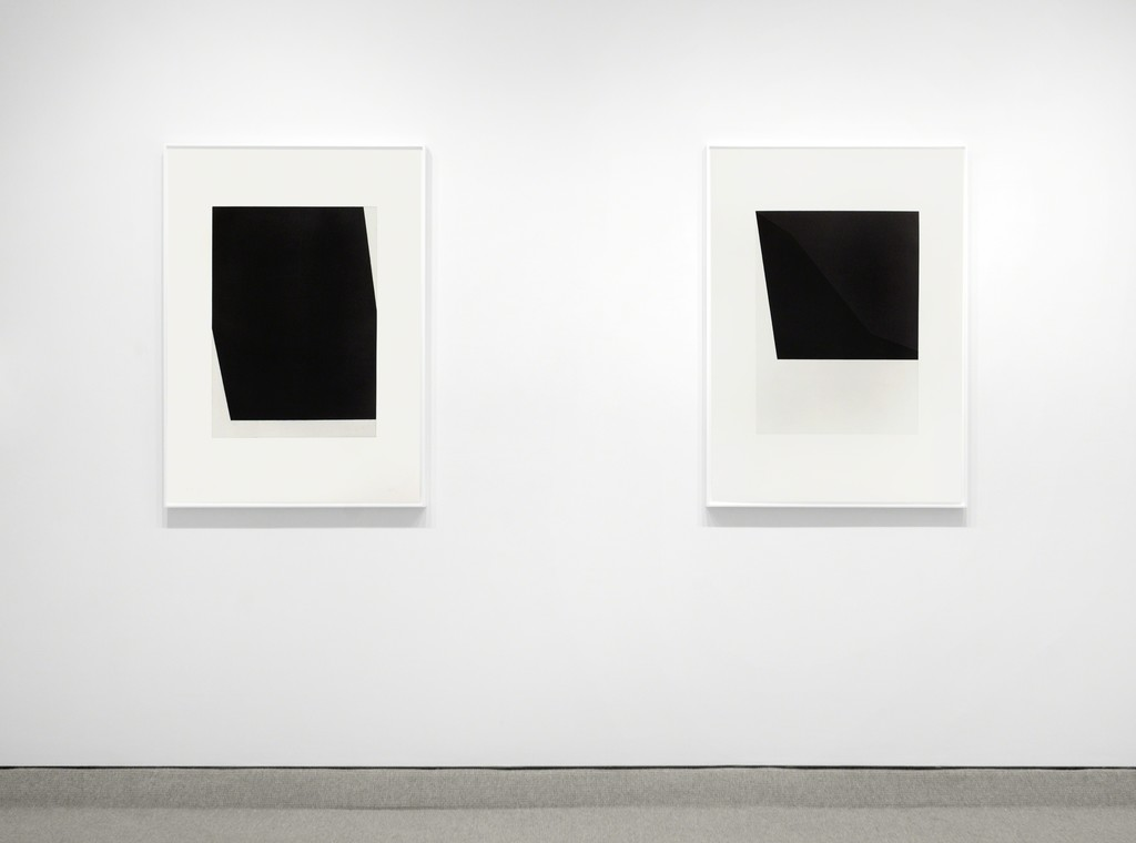 Exhibition view of two Ellsworth Kelly prints.