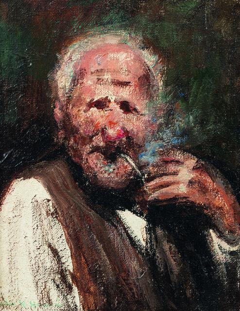 Jules René Hervé, 'Homme à la pipe', Leclere