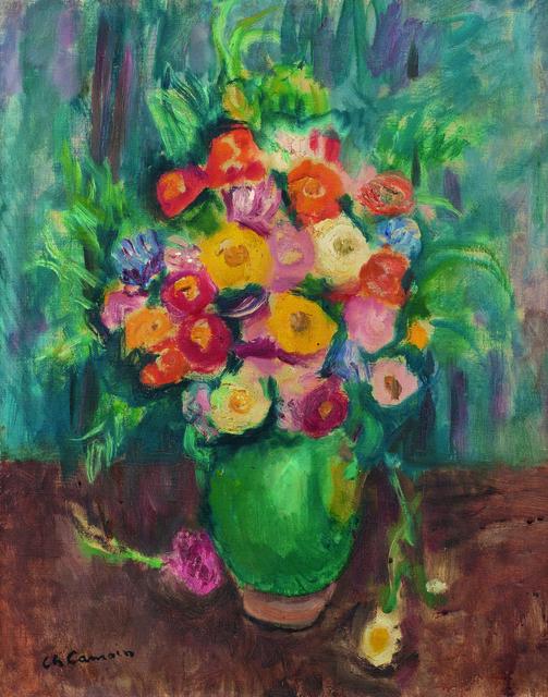 Charles Camoin, 'Fleurs à la jarre verte', 1951, Painting, Oil on canvas, Leclere
