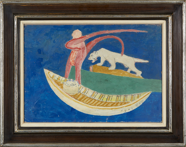 Sava Sekulić, 'Untitled (Boat with figure and cat)', 1972, Cavin Morris Gallery
