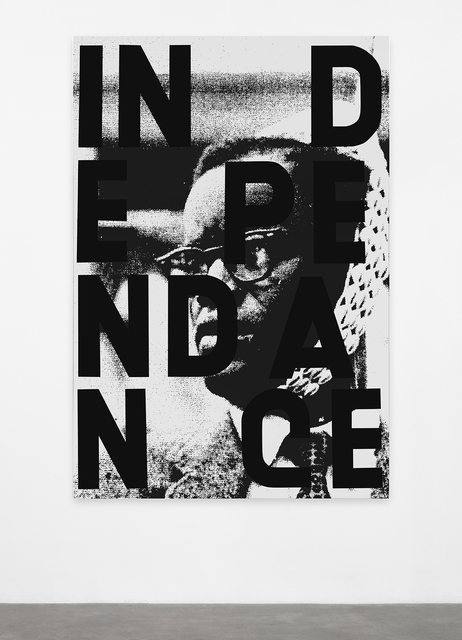 Adam Pendleton, 'ndependence (Delegate A. A. Ochwada leading the men from the Kenya Federation of Labour, All-African People's Conference, Accra, Ghana, 1958)', 2014, 56th Venice Biennale