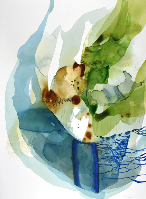 Ana Zanic, 'Viridis W-2021-1-22', 2021, Drawing, Collage or other Work on Paper, Watercolor on paper, Kathryn Markel Fine Arts