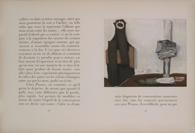 Pablo Picasso, 'Bouteille et Vitre', 1938, Ephemera or Merchandise, Stone Lithograph, ArtWise